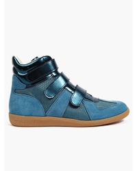 Maison Margiela 22 Men'S Blue Hi-Top Sneakers - Lyst