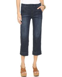 Free People High Rise Straight Crop Jeans - Vincent Wash - Lyst