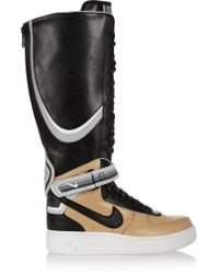 Nike  Riccardo Tisci Air Force 1 Leather High-top Sneakers - Lyst