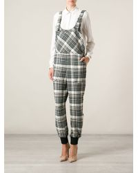 See By Chloé Check Print Jumpsuit - Lyst