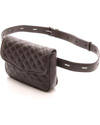 Rebecca Minkoff - Quilted Affair Fanny Bag - Charcoal - Lyst