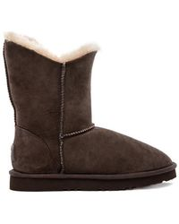 8409b779d0e Double Halo Short Boot with Fur - Brown ... Info Crafted with sheepskin  leather, Koolaburra's brown Double Halo boots will be a welcome addition to  ...