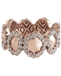 House Of Harlow 1960 Geodesic Band Ring pink - Lyst