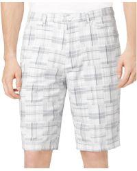Calvin Klein Madras Doubleweave Shorts - Lyst