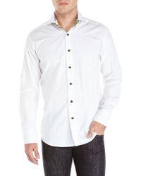 Bogosse White Tonal Printed Sport Shirt - Lyst
