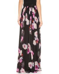 Giambattista Valli Floral Maxi Skirt Black Multi - Lyst