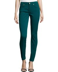 7 For All Mankind Gwenevere Twill Skinny Jeans - Lyst