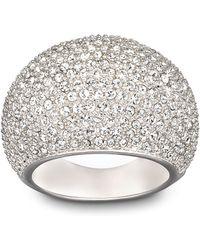 Swarovski - Stone Crystal And Silvertone Ring Size 8 - Lyst