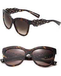 Dolce & Gabbana Filigree Arm 55Mm Square Sunglasses brown - Lyst