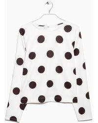 Mango Polka-Dot Print Sweatshirt - Lyst