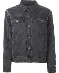 Filles A Papa - Detachable-Sleeve Denim Jacket - Lyst