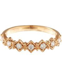 Stone - Rose Gold White Diamonds Eden Ring - Lyst