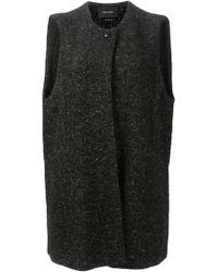 Isabel Marant Black Sleeveless Coat - Lyst