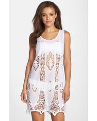 Amita Naithani - Lace Cutout Cover-up Dress - Lyst