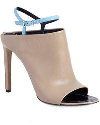 Balenciaga 'Glove' Bicolor Leather Open Toe Sandal beige - Lyst