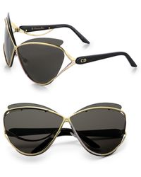 Dior Exaggerated Twotone Catseye Sunglasses - Lyst