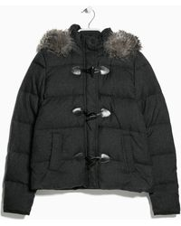 Mango Feather Down Hooded Coat - Lyst
