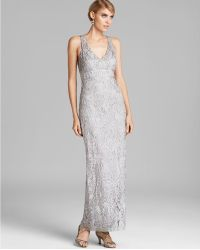 Sue Wong V Neck Beaded Gown - Black