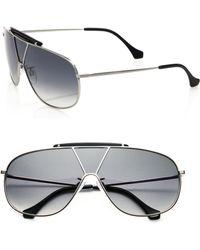 Balenciaga Sectioned 66Mm Pilot Sunglasses - Lyst