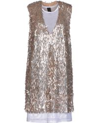 Vera Wang Short Dress - Lyst