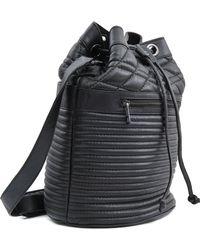 Zadig & Voltaire Bobo Quilted Bucket Bag - Black