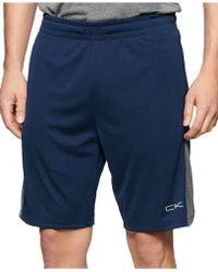 Calvin Klein Performance Colorblocked Gym Shorts blue - Lyst