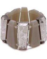 Armani - Taupe Acetate Bracelet - Lyst