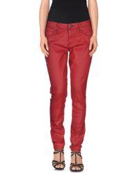 Burberry Brit Denim Trousers - Red