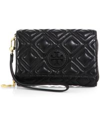 Tory Burch Marion Quilted Smartphone Wallet - Lyst
