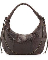 orYANY | Jasmine Anaconda-print Leather Hobo Bag | Lyst