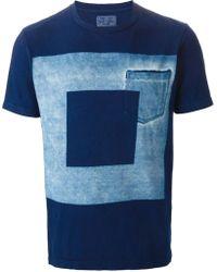 Blue Blue Japan Square Border Print T-Shirt - Lyst
