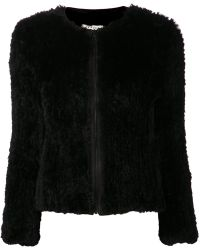 Alice + Olivia Black Boxy Jacket - Lyst