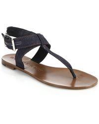 Burberry Kington Denim Thong Sandals blue - Lyst