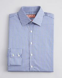 Thomas Pink Kilmoray Gingham Check Shirt - Blue