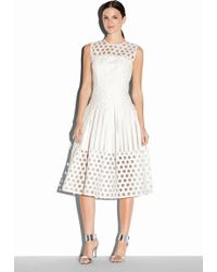 Milly Illusion Filament Jacquard Inverted Pleat Dress - Lyst