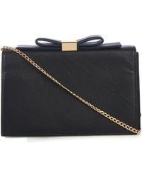 See By Chloé Nora Leather Box Clutch - Lyst