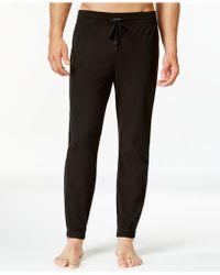 Calvin Klein   Comfort Fleece Plaid Jogger Pant   Lyst