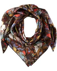 Valentino Camou Butterly Twill Scarf - Lyst