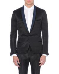Haider Ackermann Grossgrain-detail Tuxedo Jacket Black - Lyst