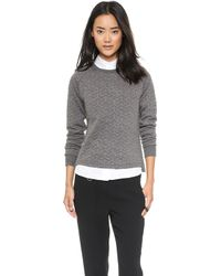Shades Of Grey By Micah Cohen Quilted Sweatshirt  Grey - Lyst