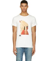 Visvim White Graphic T_shirt - Lyst