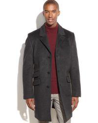 Vince Camuto Wool-blend Water-repellent Top Coat - Lyst