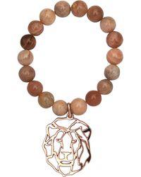 Rita & Zia Agate Lion Bracelet - Brown