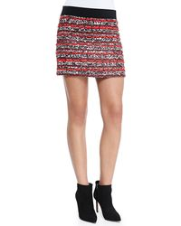Milly Tweed Miniskirt - Lyst