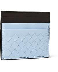 Bottega Veneta Intrecciato Leather Cardholder - Lyst