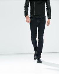 Zara Seamed Knee Biker Jeans - Lyst