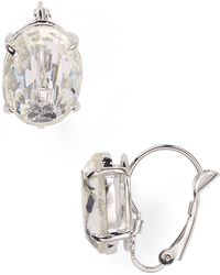 Ralph Lauren Lauren Winter Luxe Oval Earrings - Lyst