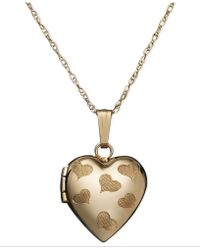 Eci - Engraved Heart Locket Pendant - Lyst