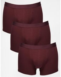 Asos 3 Pack Trunks Save 20% - Lyst
