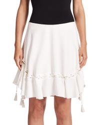Chloé   Lace-up Flutter Skirt   Lyst